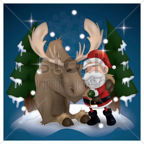 christmas background vector graphic