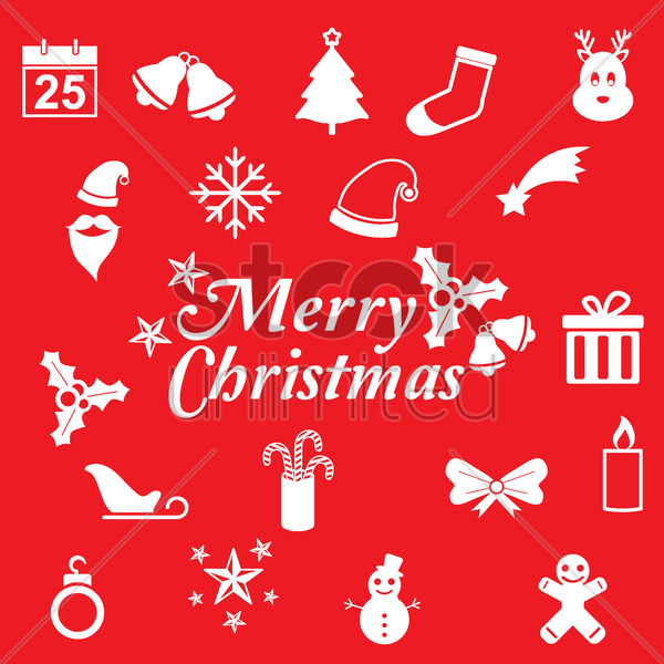 christmas collection vector graphic