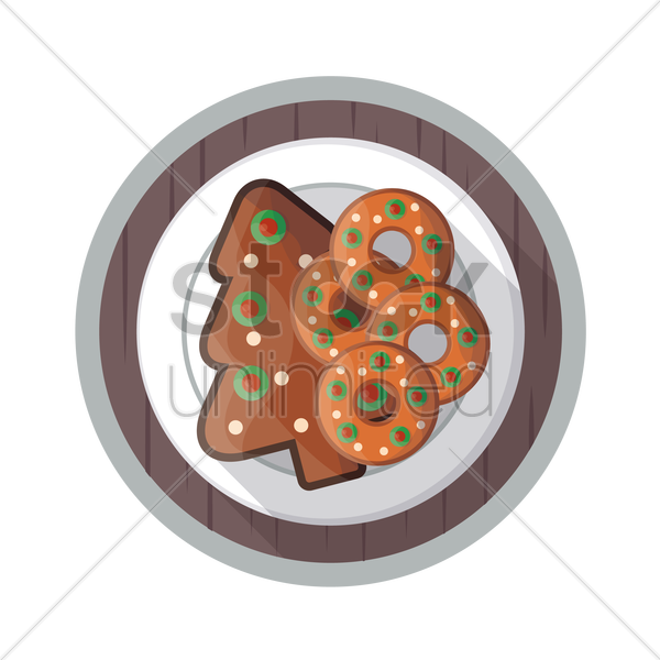 christmas cookie icon vector graphic