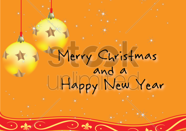 christmas greeting card vector graphic