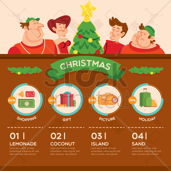 christmas infographic vector graphic