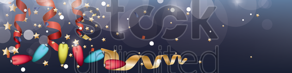 christmas lights banner vector graphic