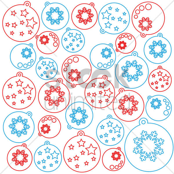 christmas pattern background vector graphic