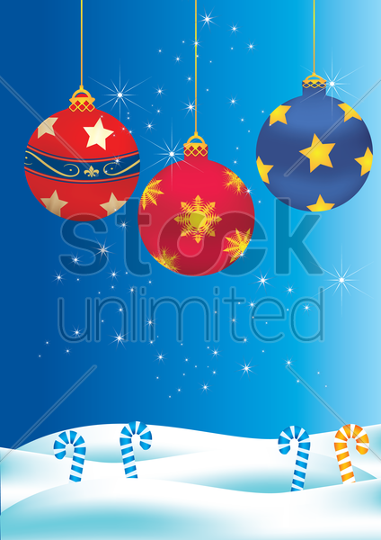 christmas themed background vector graphic