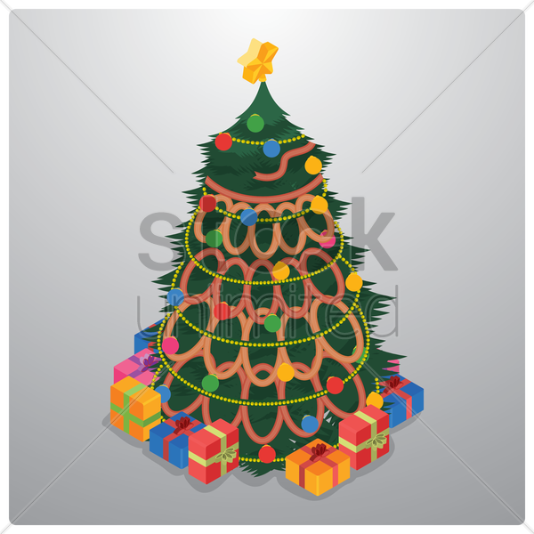 christmas tree vector graphic