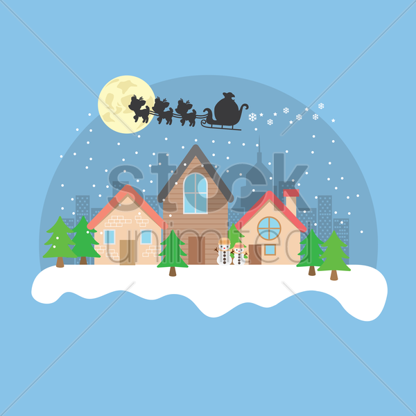 christmas wallpaper vector graphic