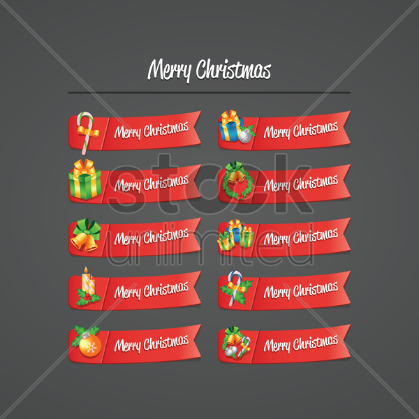 christmas wish collection vector graphic