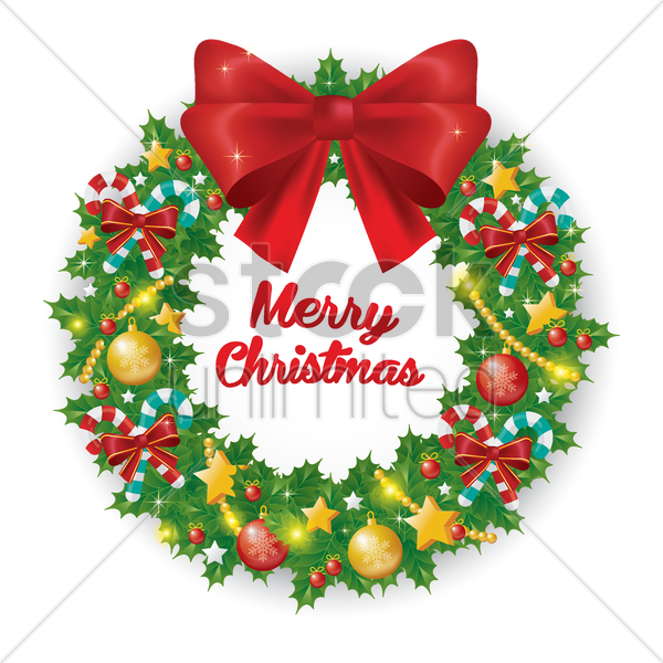 christmas wreath vector graphic