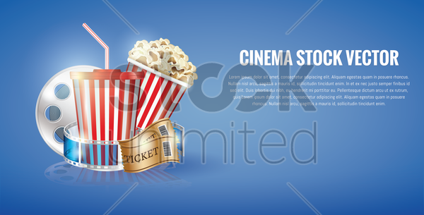cinema concept template vector graphic