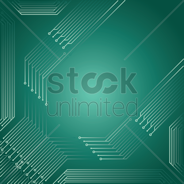 circuit board design vector graphic