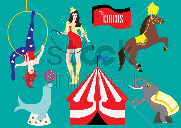 circus collection vector graphic