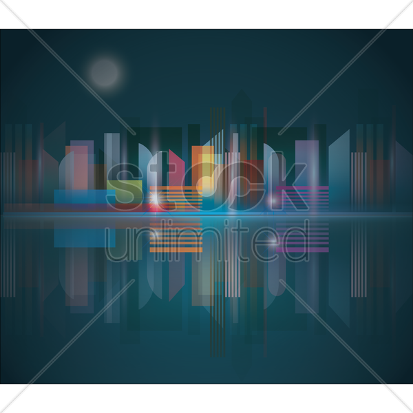 city landscape vector graphic