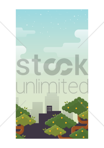 cityscape wallpaper for mobile phone vector graphic