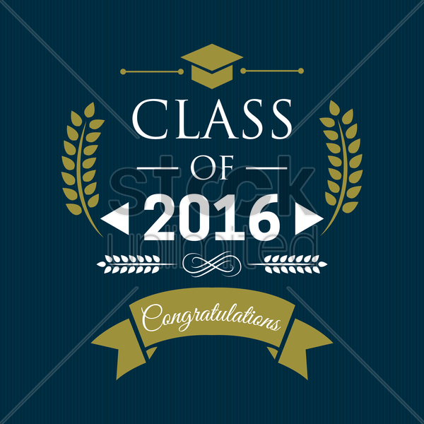 class of 2016 badge vector graphic