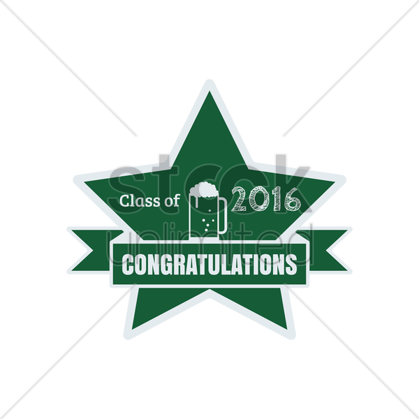 class of 2016 congratulations vector graphic