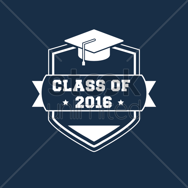 class of 2016 design vector graphic