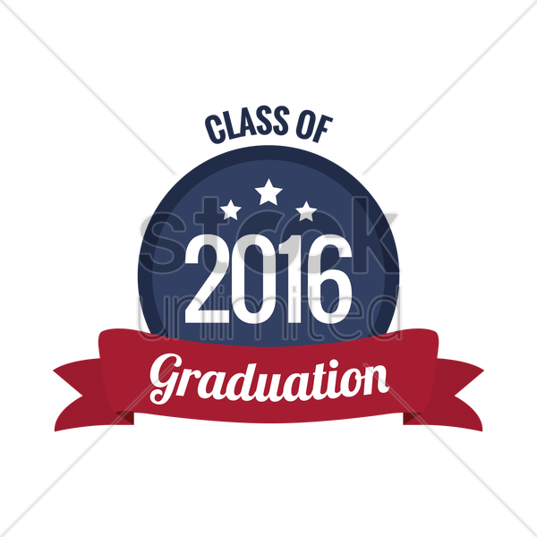 class of 2016 graduation vector graphic