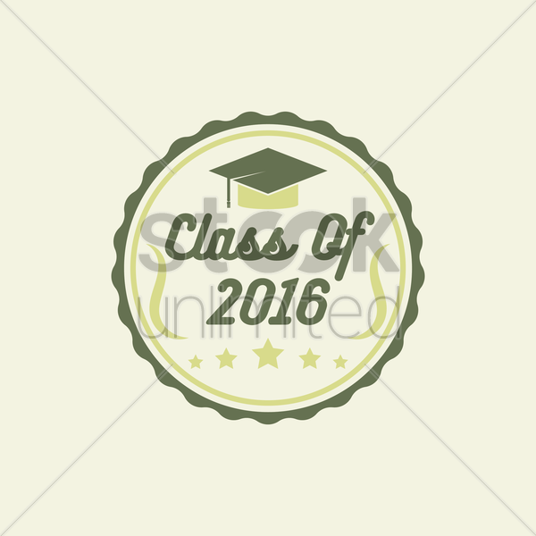 class of 2016 label vector graphic