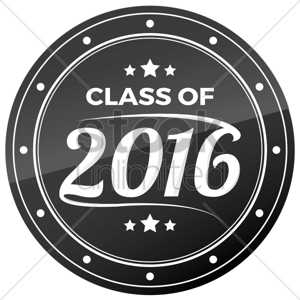 class of 2016 vector graphic