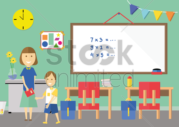 classroom vector graphic