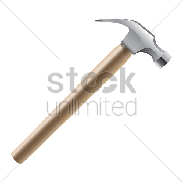 claw hammer vector graphic