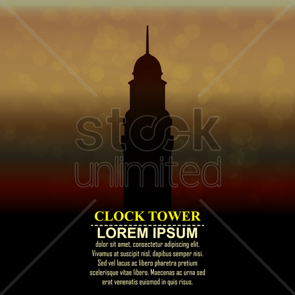 clock tower vector graphic