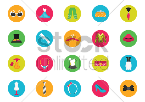 clothing icons vector graphic