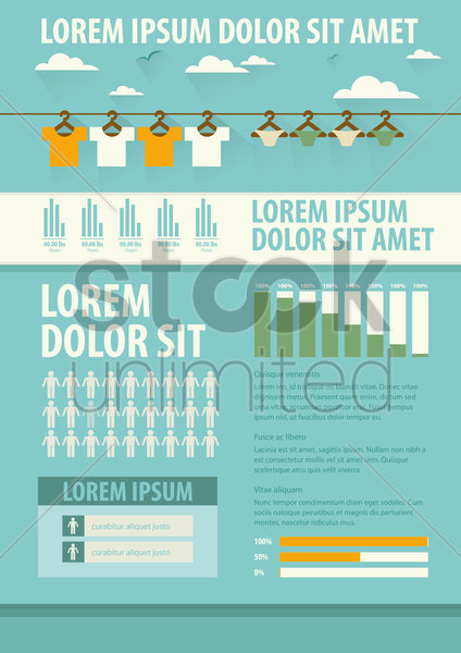 clothing infographic vector graphic
