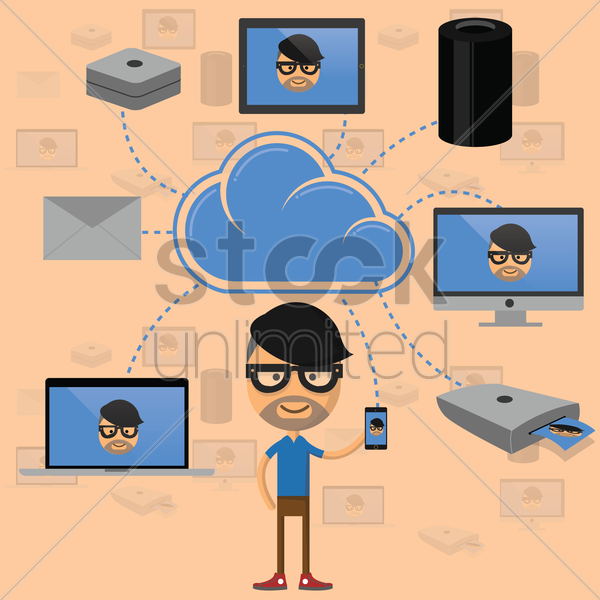 cloud computing concept vector graphic