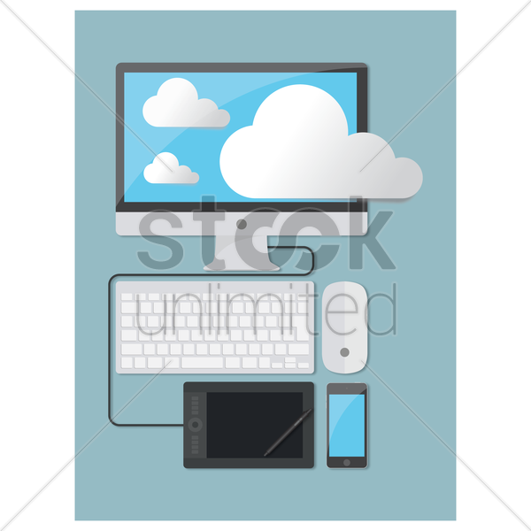 cloud computing vector graphic