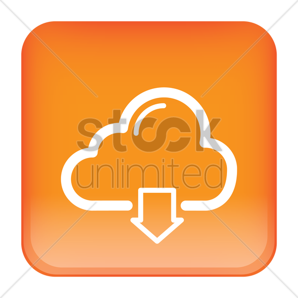 cloud download icon vector graphic
