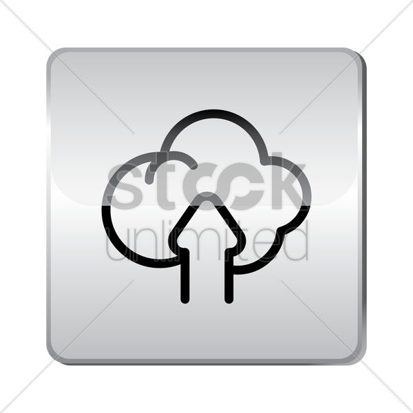 cloud upload icon vector graphic