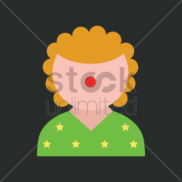 clown vector graphic