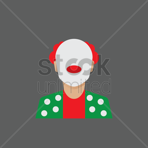 Free clown vector graphic