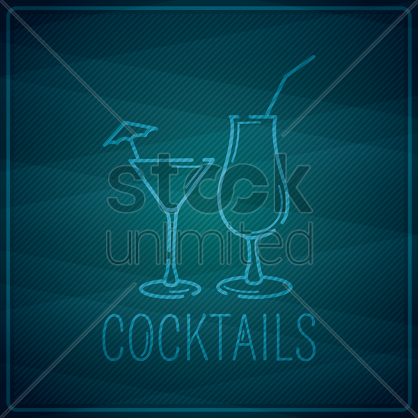 cocktails vector graphic
