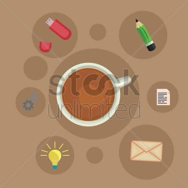 Free coffee infographics vector graphic
