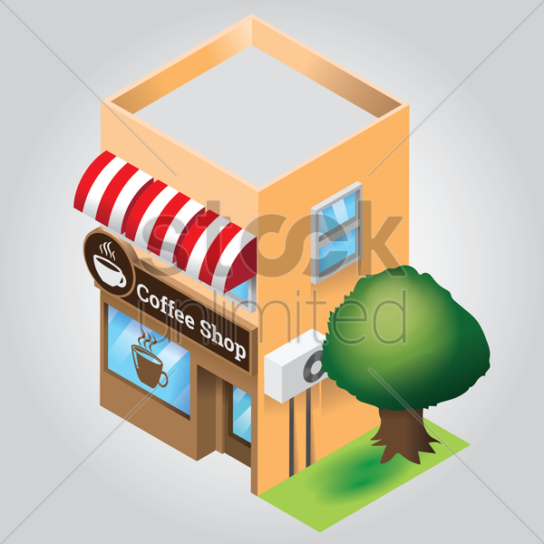 coffee shop vector graphic