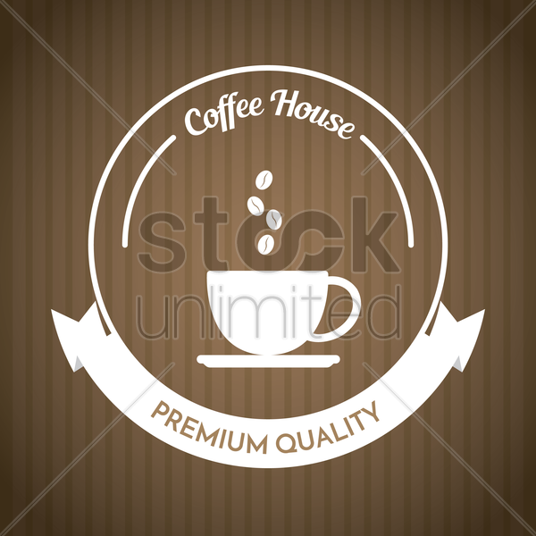 coffee shope sign vector graphic
