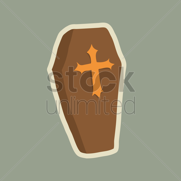 Free coffin vector graphic