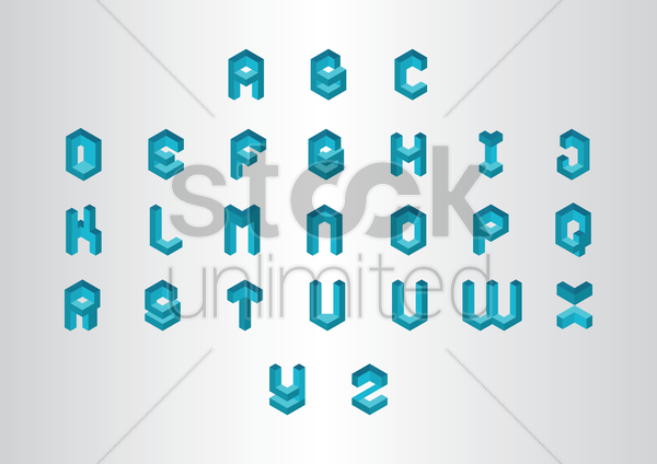 collection of alphabet vector graphic