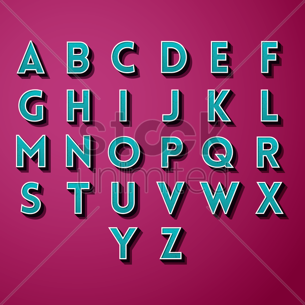 collection of alphabets vector graphic