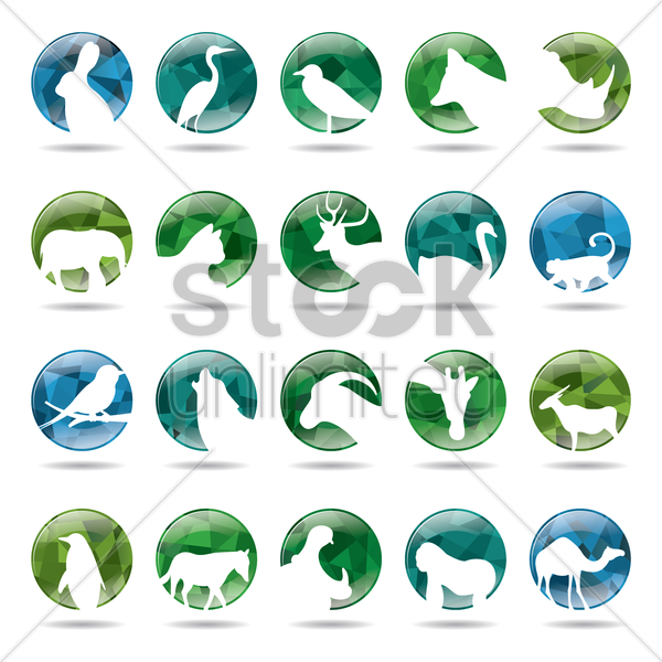 Free collection of animals icons vector graphic
