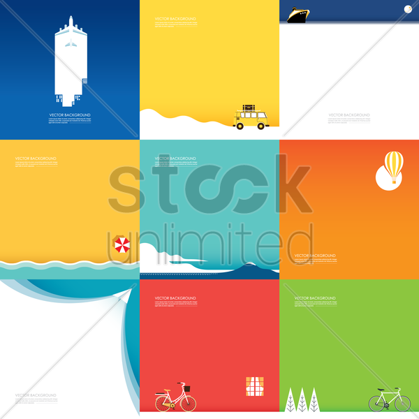 collection of assorted backgrounds vector graphic