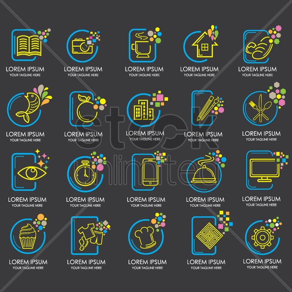 Free collection of assorted icons vector graphic