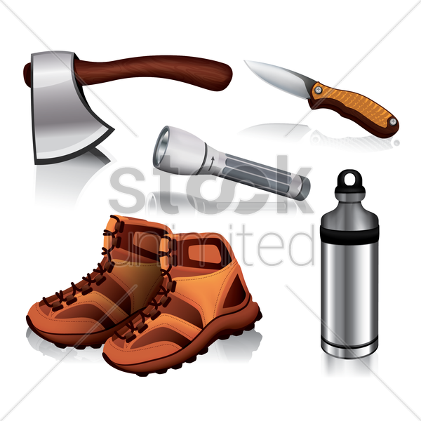 collection of assorted objects vector graphic