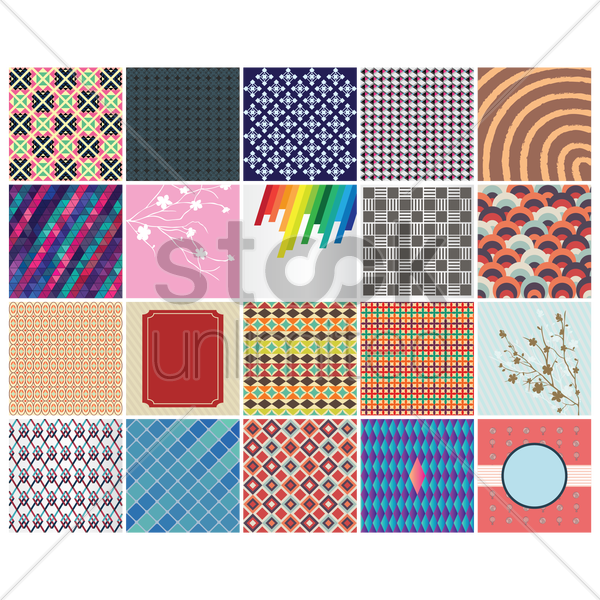 collection of backgrounds vector graphic