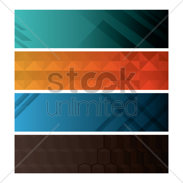 collection of banners vector graphic
