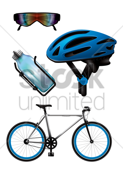 collection of bike icons vector graphic