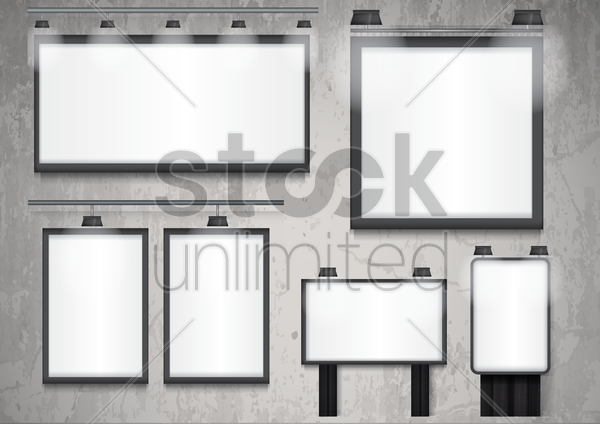 collection of billboards vector graphic