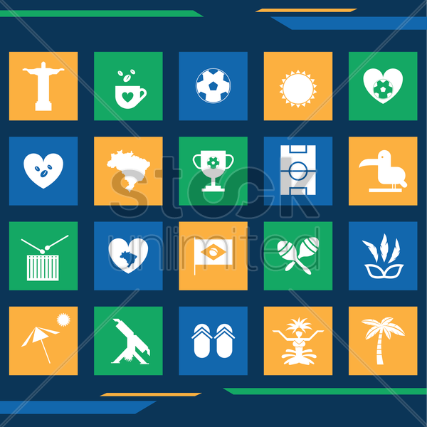 Free collection of brazil general icons vector graphic
